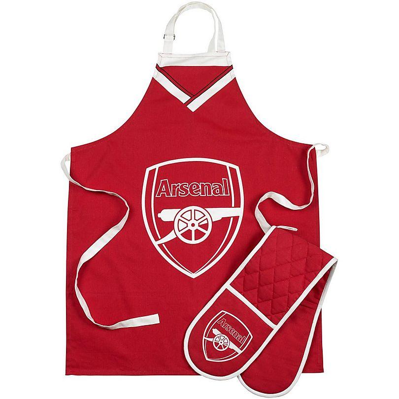 Arsenal Apron & Oven Glove set