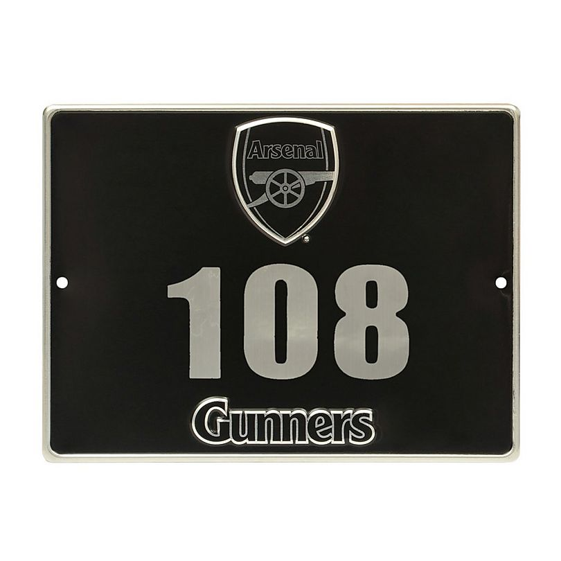 Arsenal House Number Plaque Sign