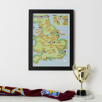 Personalised Scratch Off 92 Football Grounds Print