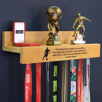 Personalised Medal Hanging Achievement Hook Shelf
