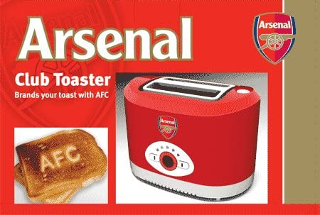Arsenal FC Official Branded 2 Slice Electric Toaster