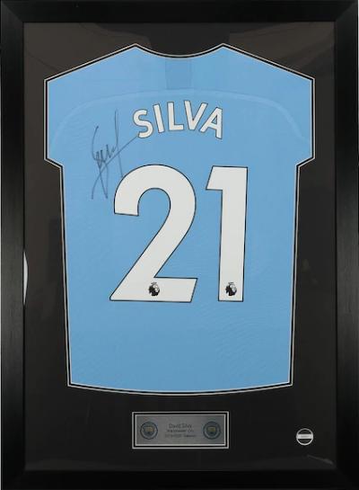 David Silva Hand Signed 2019/20 Home Shirt