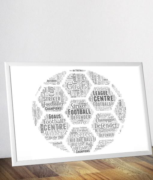 Personalised Football Word Art