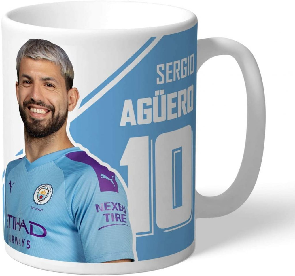 Personalised Sergio Aguero Autograph Mug
