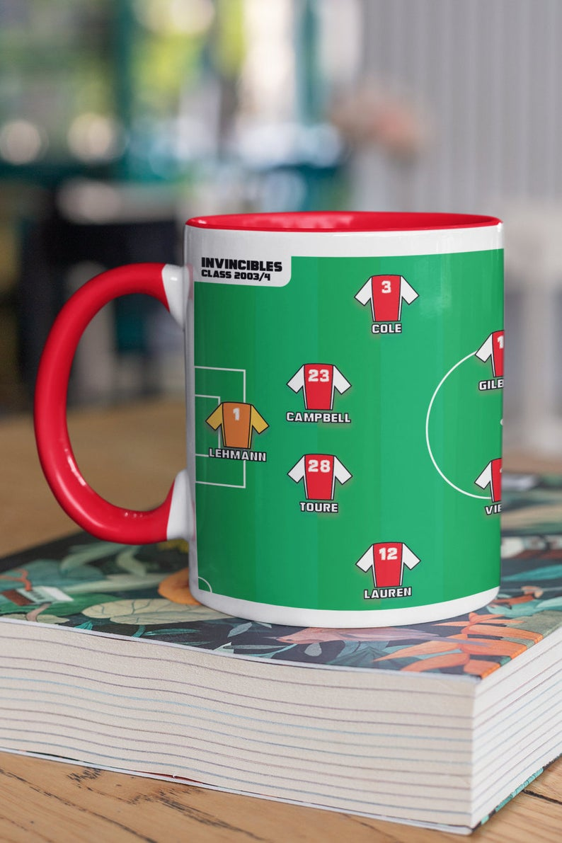 The Invincibles' squad mug design