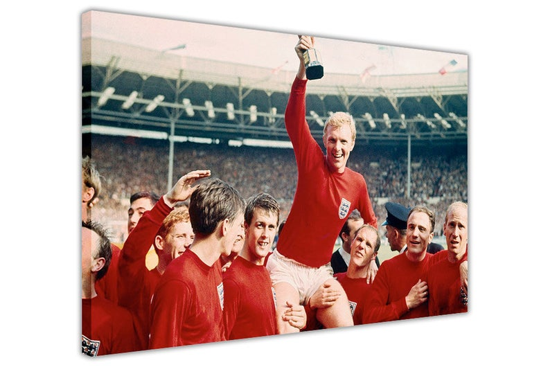 Famous England 1966 World Cup Framed Canvas