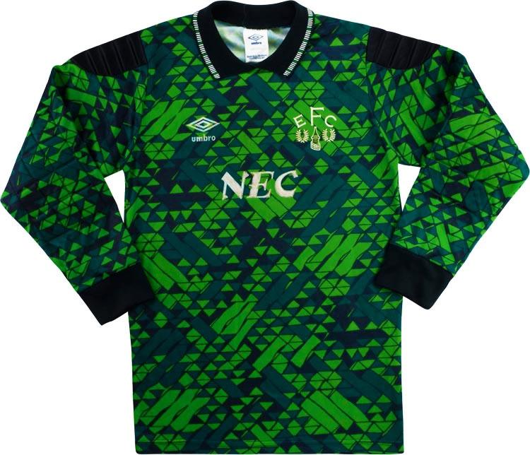 Everton 1990-92 Goalkeeper Shirt