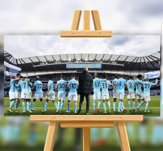 Manchester City Champions Canvas