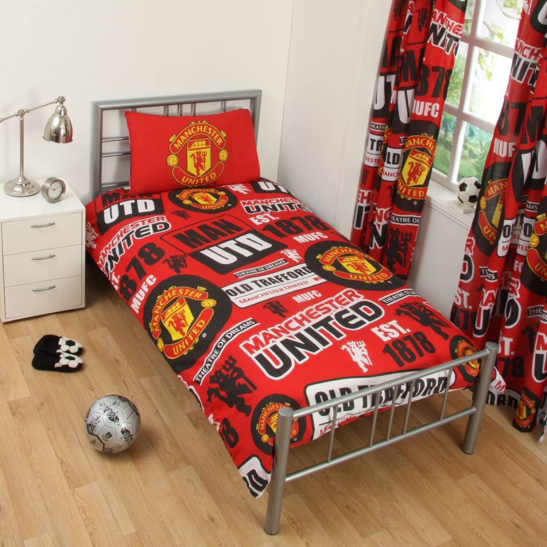 Manchester United Official Patch Single Duvet Set
