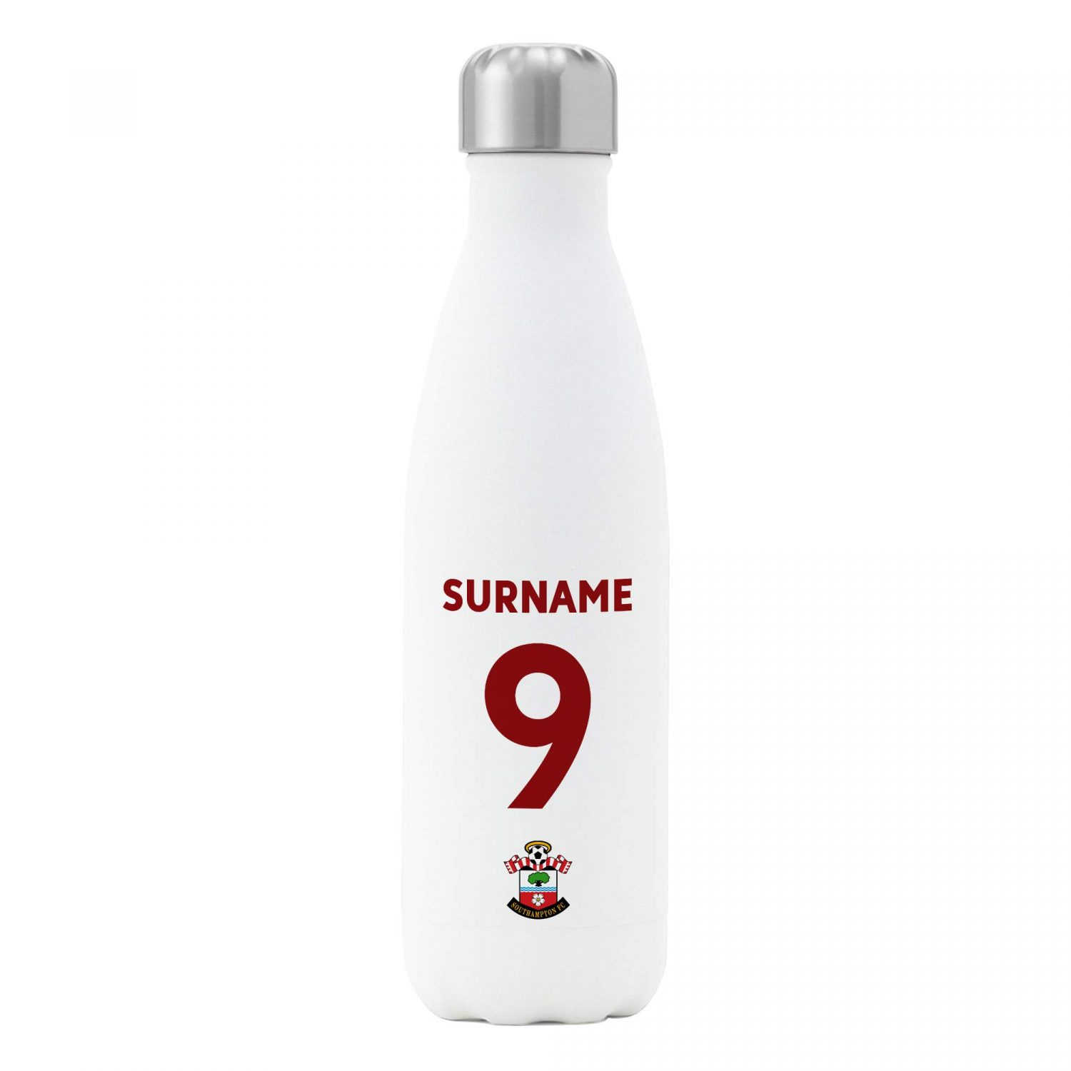 Southampton FC Official Personalised Back of Shirt Insulated Water Bottle