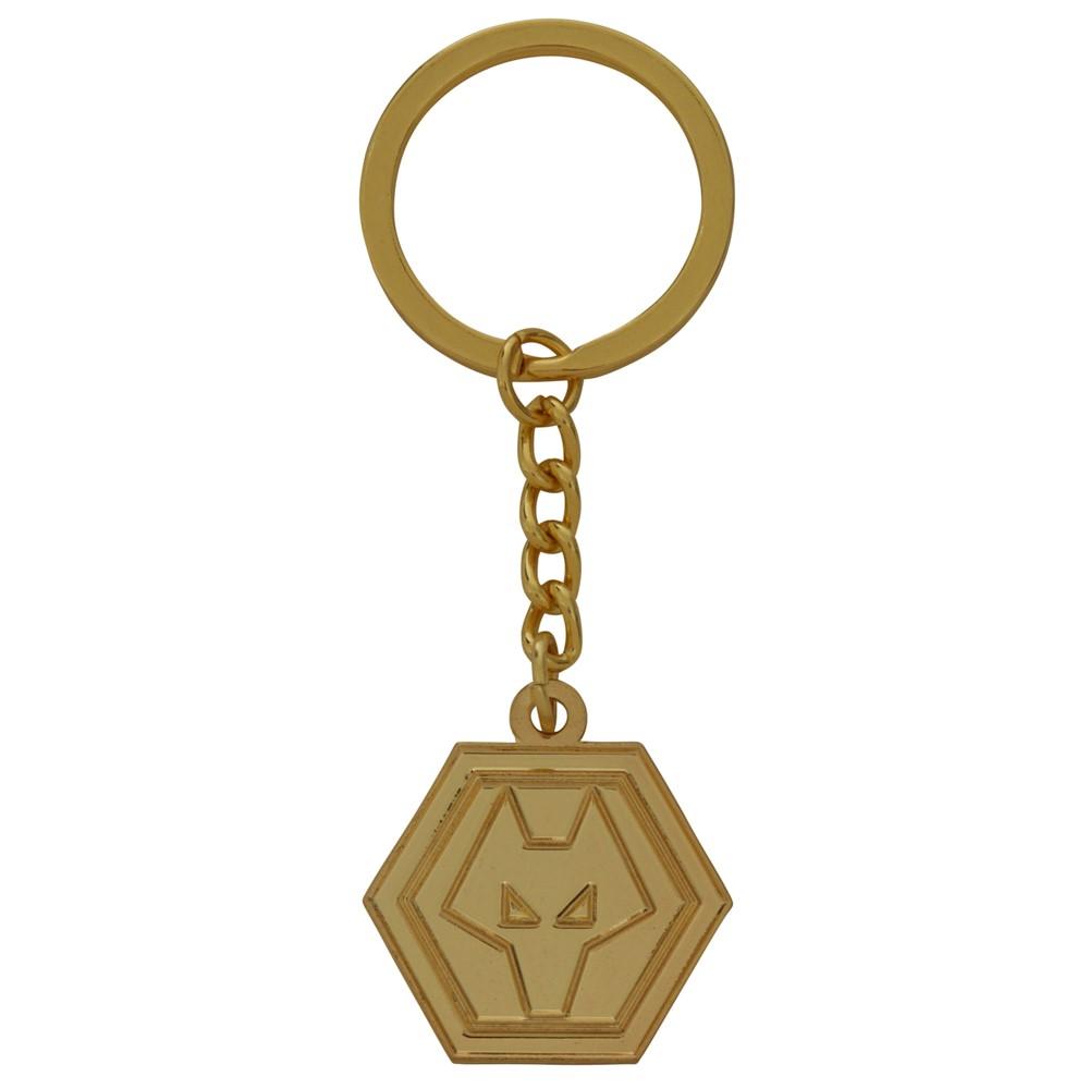 Gold Plated Crest Keyring