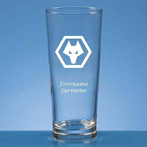 Wolves FC Crest Personalised Pint Glass
