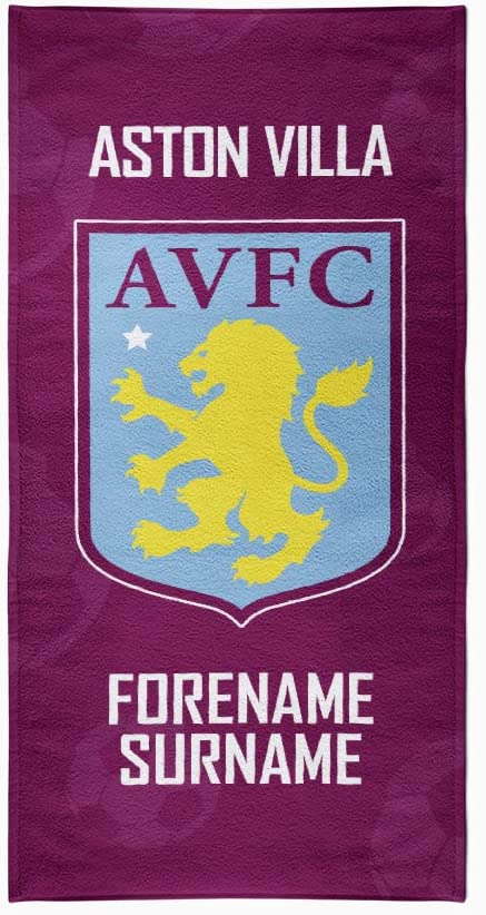 Aston Villa Personalised Beach Towel