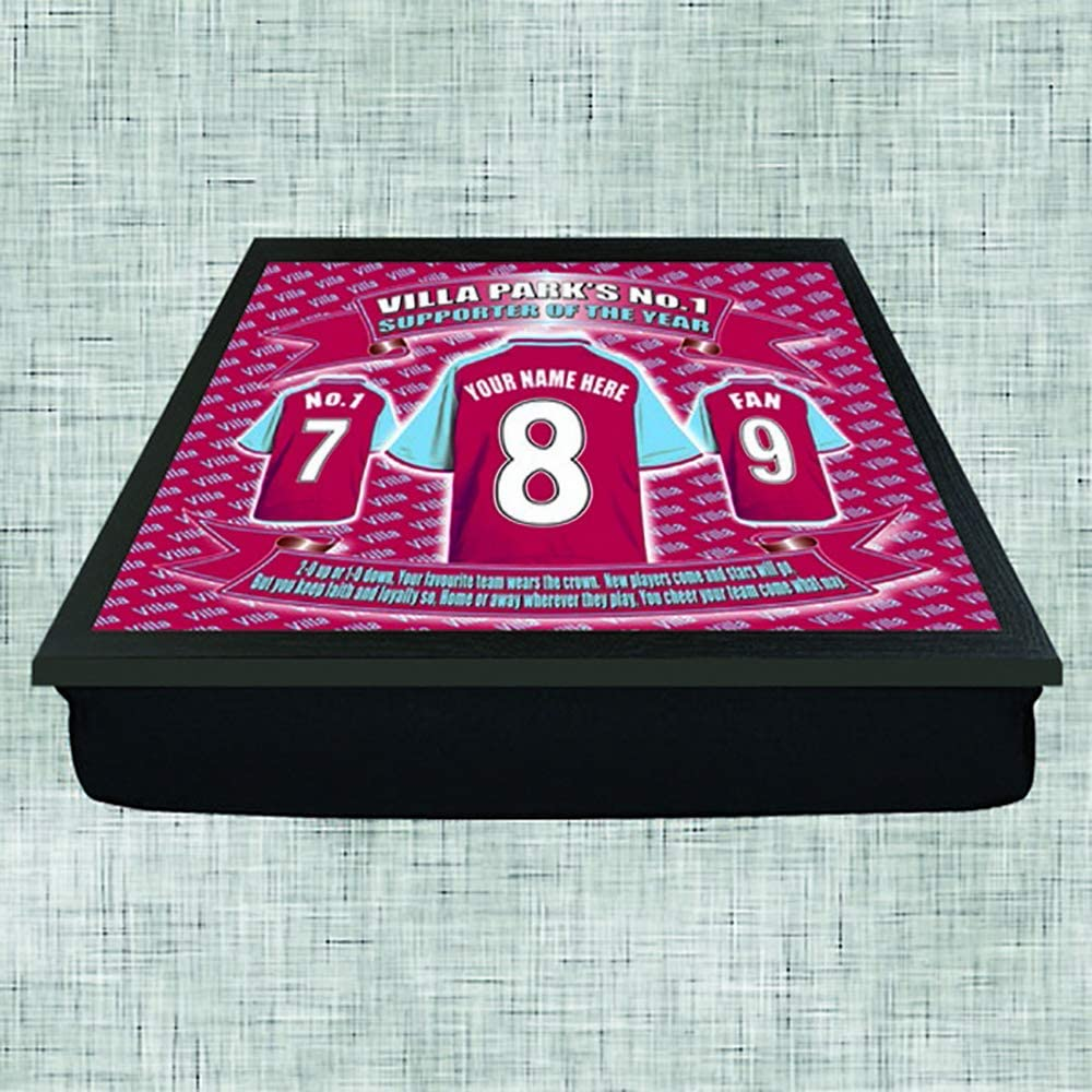 Aston Villa Football Shirt Personalised Lap Tray Gift
