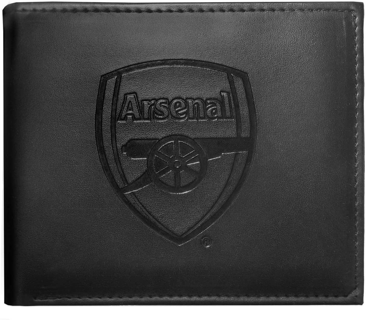Arsenal FC Official Embossed Crest Wallet Black